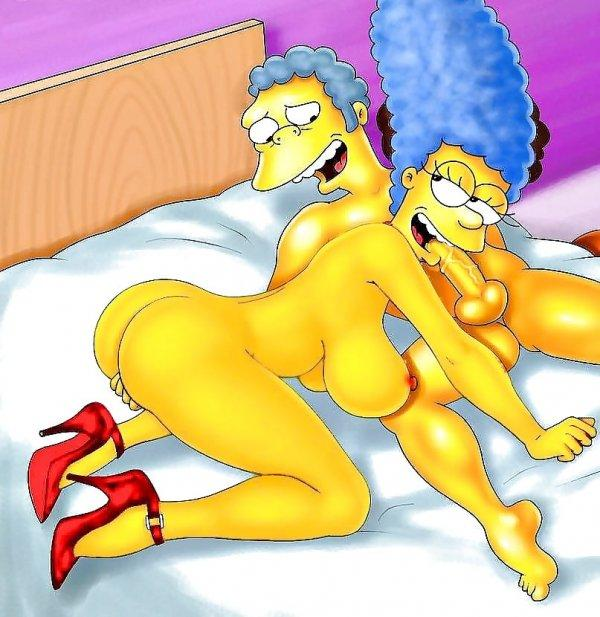 Toons comic nude marge simpson