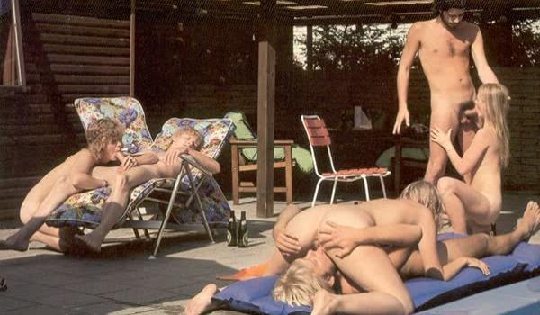 Festa na piscina termina em suruba