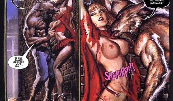 Chapeuzinho vermelho fodendo gostoso com lobo mal