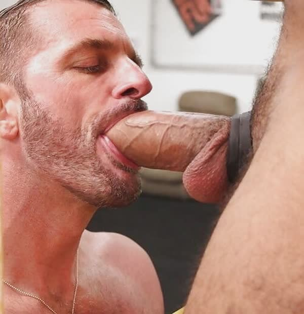 Silent Fag Sucks Down Glory Hole Dicks