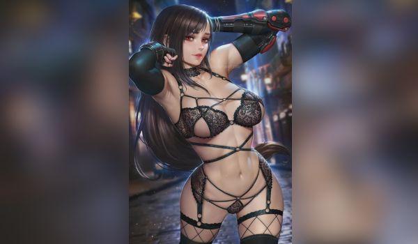 Tifa Lockhart em fotos anime porno