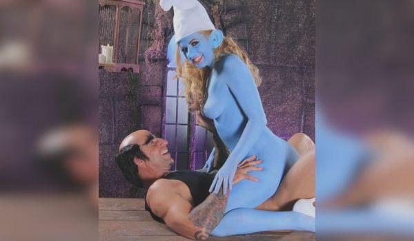 Smurf porno cosplay com muita sacanagem